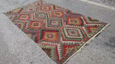 Handgemachte türkischer Kelim Teppich, Kelim Teppich, Teppich Teppiche, Kilim Teppich 6 x 9, türkischer Teppich, türkischer Kelim, Abgepasst, Teppich Teppich