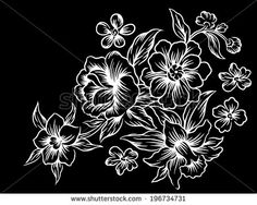 129 best black and white flowers background images on pinterest black and white flowers vector hand black backgrounds how to draw hands mightylinksfo