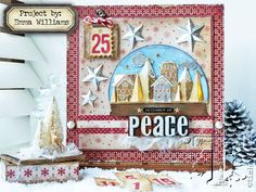 Christmas Advent Calendar and matching tag box project created by Emma Williams for Tim Holtz Inspiration series 2016