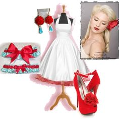 Pin up wedding...this style of dress is pretty