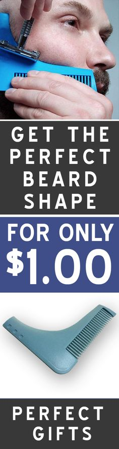 Get the perfect beard shape with this beard trimming tool!