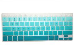 Llamamia 3 Silicone Keyboard Covers Skins for Macbook Unibody / Macbook Pro with or without Retina Display / New Macbook Air / Mac Wireless Keyboard (New Rainbow A/Gradient Blue/Gradient Purple): Computers & Accessories New Macbook Air, Macbook Air Cover, Macbook Pro Case, Macbook Decal, Macbook 13, Keyboard Stickers, Keyboard Cover, Laptop Covers, Macbook Accessories