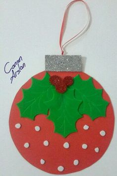 weihnachten-ornamet-craft-idea – Crafts-and Worksheets for Preschool,Toddler and… Christmas Art For Kids, Christmas Arts And Crafts, Preschool Christmas, Christmas Activities, Felt Christmas, Christmas Printables, Christmas Projects, Holiday Crafts, Christmas Cards