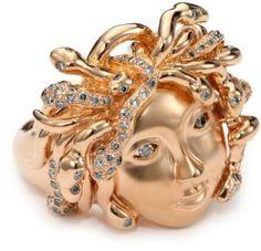 Borgioni Medusa Cocktail Ring, Size 7