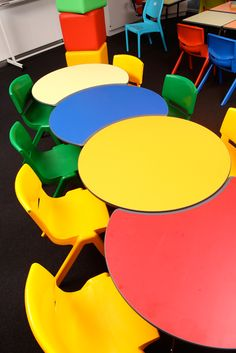 Funky tables and chairs