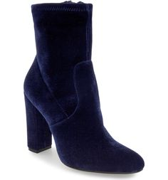 Currently swooning over these blue velvet booties by Steve Madden. A subtly slouchy shaft and a streamlined design combine to create minimalist appeal for a block-heel bootie that's sure to be a wardrobe staple.