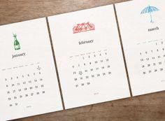 Wood Type Perpetual Calendar  Calendars    Wood Types