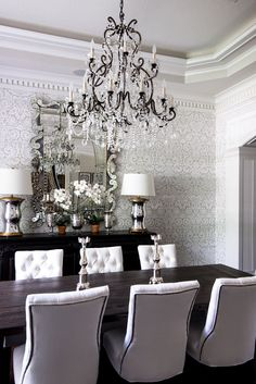 Dining  TraditionalNeoclassical  Transitional by Paloma Contreras Design