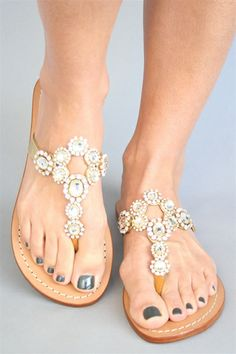 Mystique - Clear Crystal on Metallic Gold Sandal