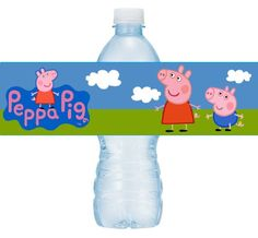 Printable Peppa Pig Water Bottle Labels DIY Peppa Pig party! Instant Download by ChrisCakeArt on Etsy https://www.etsy.com/listing/209479842/printable-peppa-pig-water-bottle-labels