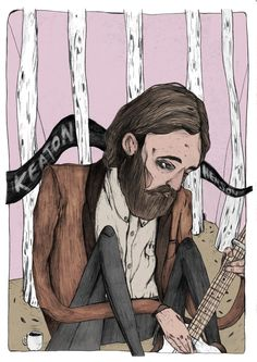 Musician portrait 3: Keaton Henson This portrait is inspired by both Keaton';s music and artwork.