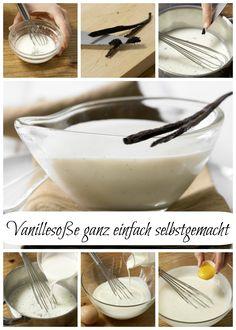Nicht zu süß, nicht zu fett, superschnell – einfach hinreißend: Vanillesauce – smarter (Grundrezept) | http://eatsmarter.de/rezepte/vanillesauce-smarter