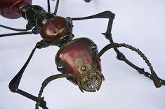 animaux metalliques par edouard martinet 24   Fabuleux animaux métalliques par Edouard Martinet   Sculpture recyclage photo métal image anim...