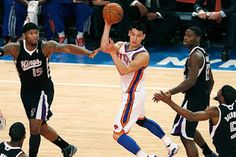 Bright lights greet the New York Knicks star on All-Star weekend