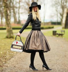 FuFu sukně: měděná + černá spodnička