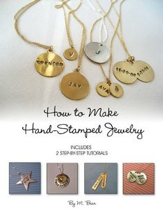 Diy Jewelry : Hand-stamped jewlery -Read More – Hand Stamped Metal, Hand Stamped Jewelry, Jewelry Crafts, Handmade Jewelry, Creation Deco, Bijoux Diy, Diy Jewelry Making, Metal Stamping, Metal Jewelry