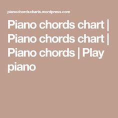 Piano chords chart | Piano chords chart | Piano chords | Play piano