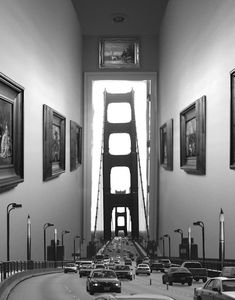 In every location Thomas Barbéy has traveled to, he has taken photographs. He uses the pictures to create artistic montages of a imaginary concepts, which are technically made with a combination of negatives, pre-planned double exposures, and/or other methods. His work is heavily inspired by his travels, everyday life, and art by Rene Magritte, M.C. Escher, and Roger Dean.