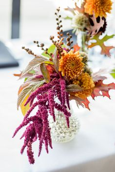 Orange, raspberry, chocolate and gold autumn wedding - see more at http://fabyoubliss.com
