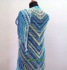 Crochet cotton shawl Multicolored shawl Triangular shawl Lace Lasy Etsy Summer Triangle, Lace Wrap, Wedding White, Crochet Shawl, Fringes, Shawls And Wraps, Shopping Mall, Stitches, Infinity