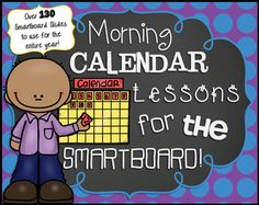 Make your calendar time each morning engaging, interactive, meaningful, and fun by using this Smartboard Calendar Lesson!  This 138 slide Smart Notebook file has everything you need to successfully implement calendar time in your classroom using an interactive whiteboard.