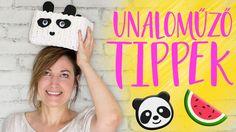 Nyári unaloműző tippek 2. Rész – pandák, dinnyék, egyebek   INSPIRÁCIÓK ... Crochet Hats, Youtube, Knitting Hats, Youtubers, Youtube Movies