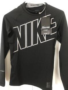 f169517d NEW Nike Pro Hyper Warm Boys Youth L Compression Long Sleeve Shirt Dri Fit  NWT
