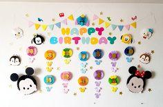 ペーパーファンのディズニーツムツムお誕生表を制作しました〜プリプリ2019年4月号特別付録 | Happy Birthday Project Mickey Mouse Birthday Theme, Tsum Tsum Party, Tsumtsum, Diy Cards, Classroom Decor, Activities For Kids, Diy And Crafts, Happy Birthday, Cartoon