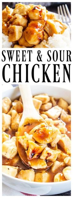 BAKED SWEET & SOUR CHICKEN - A Dash of Sanity Baked Sweet And Sour Chicken Recipe, Recipe Using Chicken, Best Chicken Recipes, Turkey Recipes, Lunch Recipes, Easy Dinner Recipes, Easy Meals, Cooking Recipes, Baked Chicken