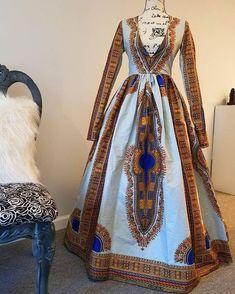Elegant Ankara Full Length Dashiki Dress African Print Maxi Dress