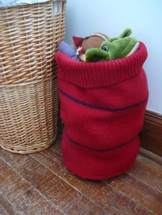 Soft Storage - Felted Wool Floor Basket. $25.00, via Etsy.