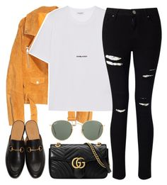 """Untitled #3219"" by elenaday ❤ liked on Polyvore featuring SKINN, Gucci, Yves Saint Laurent, Ray-Ban and Miss Selfridge"