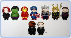 Chibi Avengers - my models for a polymer clay figurine project that won't happen anytime soon. #avengers