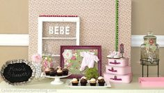 "Una mesa ""shabby chic"" para un baby shower / A ""shabby chic"" baby shower table"