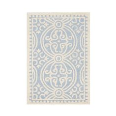 Safavieh Marlton Textured Accent Rug ($35) ❤ liked on Polyvore featuring home, rugs, light blue, contemporary rugs, light blue rug, wool rugs, safavieh area rugs and safavieh rugs