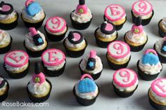 Make-Up Fashion Purse Hot Pink Cupcakes Cupcake Toppers