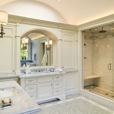 Master Bath, love the big openness! Just need to change the single sink to jack and jill sinks.