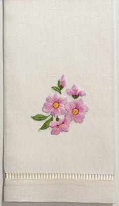 Cherry Blossom<br>Hand Towel - Ivory Linen