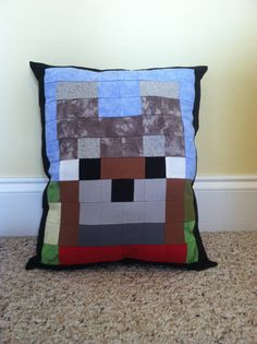 Minecraft Inspired Dog Throw Pillow by CraftyCreepers on Etsy, $25.00