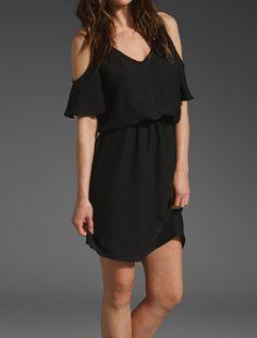 fLuXuS Tissue Satin Sookie Dress in Black