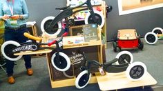 New Zealand-based Wishbone Design has offered a versatile, 3-in-1 child's grow bike for several years. This year, it's adding a pedal drivetrain to make the transforming bike even more versatile for growing children.