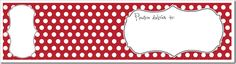Address labels that wrap around the envelope with return address on the back.