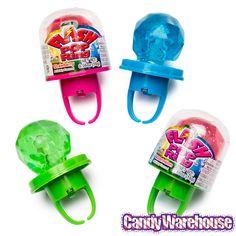 Flash Pop Candy Rings: 24-Piece Box