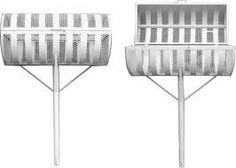 lixeira-para-calcada-1 Iron, Cool Stuff, Chair, Furniture, Diy, Design, Home Decor, Washing Bins, Iron Doors