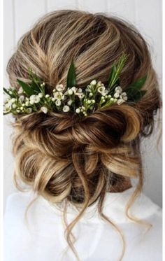 wedding hairstyles elegant swept updo with loose curls and white flowers . summer wedding hairstyles elegant swept updo with loose curls and white flowers . summer wedding hairstyles elegant swept updo with loose curls and white flowers . Wedding Hair Flowers, Wedding Hair And Makeup, Flowers In Hair, White Flowers, Hair Wedding, Gown Wedding, Wedding Dresses, Wedding Rings, Fall Flowers