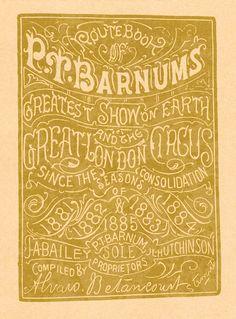 PT Barnum's Route Book