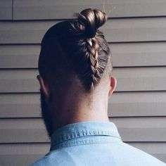 Man Bun with back Braid
