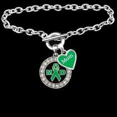 Custom Loved One Muscular Dystrophy Awareness Bracelet