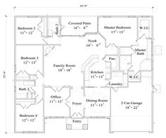The Nathaniel House Plan 4430 - 4 Bedrooms and 3 Baths | The House Designers