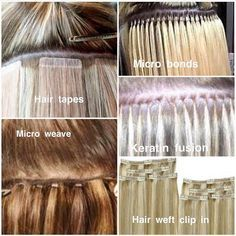 Everything You Ever Wanted to Know About Hair Extensions METHODS UBEAUTI USE. The Top Methods Fusion Keratin (or Bonded) Hair Extensions (like Great Lengths our premium choice). Individual keratin-tipped strands are fused to your natural hair using cold Permanent Hair Extensions, Hair Extensions Tutorial, Types Of Hair Extensions, Hair Extensions Before And After, Hair Extensions For Short Hair, Keratin Extensions, Micro Bead Hair Extensions, Fusion Extensions, Hair Tutorials